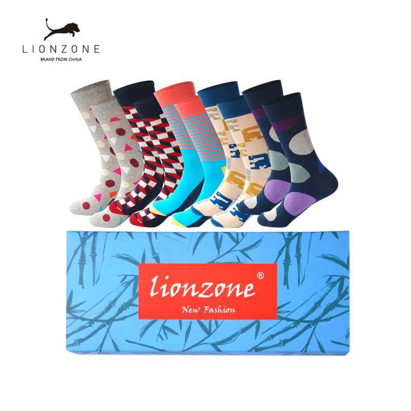 2019 Mens Cotton Colorful Happy Socks Gift Box Fruit Crazy Calcetines Hombre Invierno Funny Skate Socks Lionzone New Arrival From Felix06, $37.24 | DHgate.