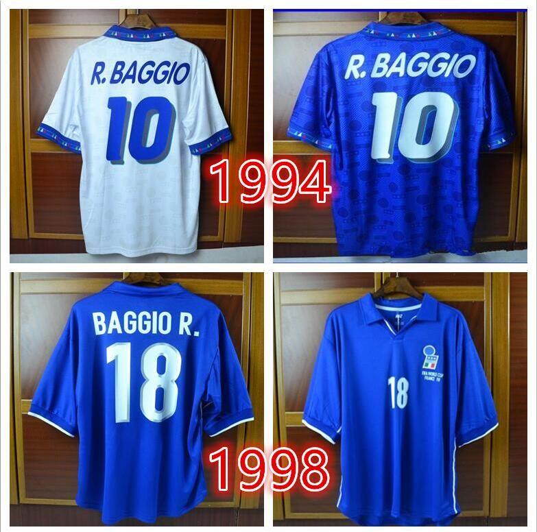 24a6b02b66 2019 1994 1998 Italy Totti Retro Soccer Jersey Calcio MAGLIA 02 04 06 Italia  Baggio Maldini Pirlo Del Piero Inzaghi Nesta Football Shirts From  Soccerfans999 ...