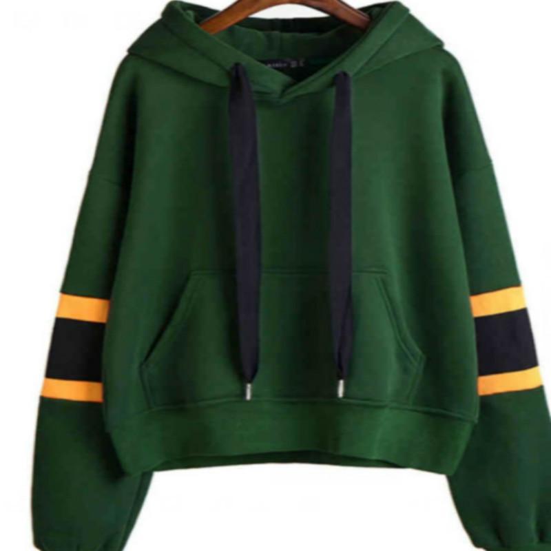 659192f0ce20 Großhandel Gestreifte Hoodies Harajuku 2018 Neue Mode Grün Herbst Gewinner  Womens Long Sleeve Hoodie Sweatshirt Mit Kapuze Pullover Von Modeng01, ...
