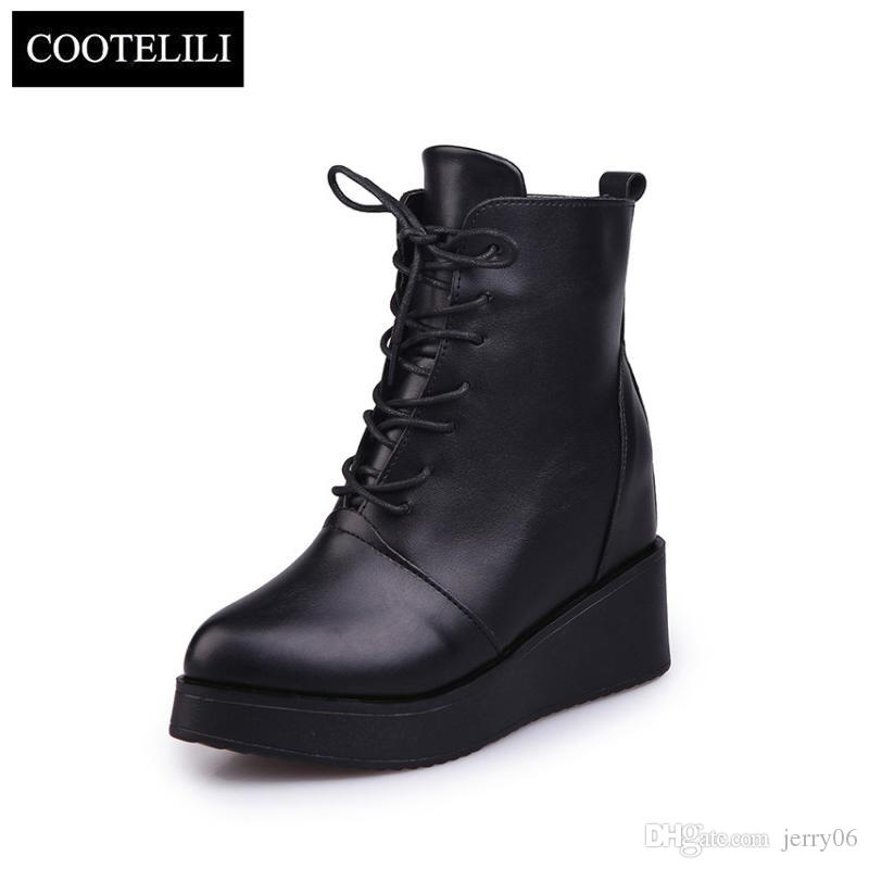 2019 hotsale spring fashion runway women sport leather Increased internal shoes