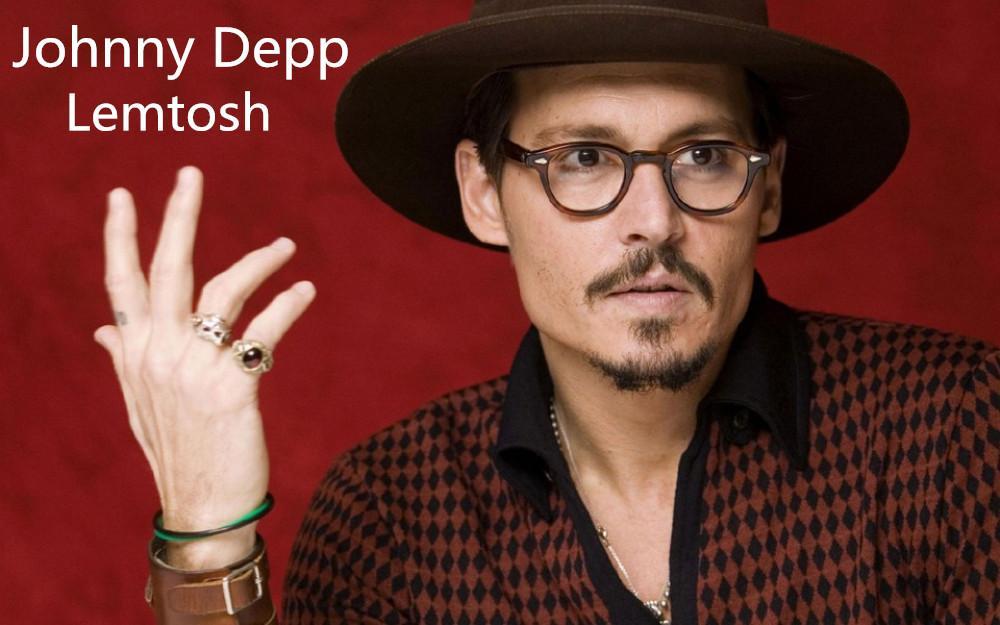 d172d3b015 Pirate Captain Johnny Depp Lemtosh Vintage Oval Eyeglass Frame Men Myopic  Prescription Glasses Frame Can Do Sunglasses Lens Wholesale Sunglasses Cool  ...