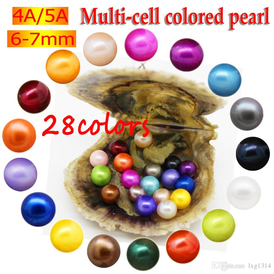 Wholesale vacuum packaging Akoya salt pearl oyster, pearl is AAAAA level round 6-7mm color 1# brown pearl oyster 2-5 days