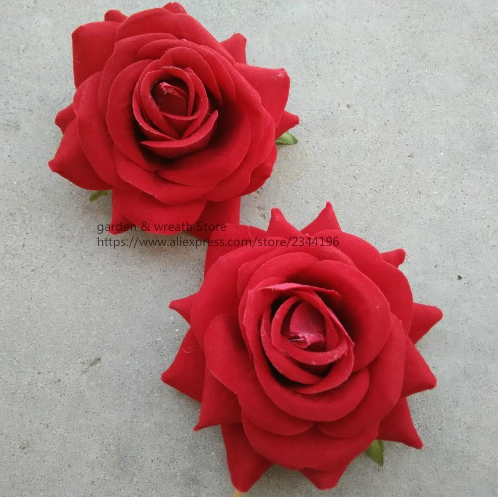 Online Cheap Silk Flower Heads Large Roses Heads For Diy Work Head