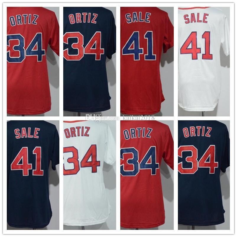 2019 2018 Wholesale Women Jersey 34 Ortiz 41 Chris Sale Black White Red  Lady Cool Base Baseball Jerseys Redsox Shirt Cheap Sport Stitched Hongwa  From ... 0b9825333