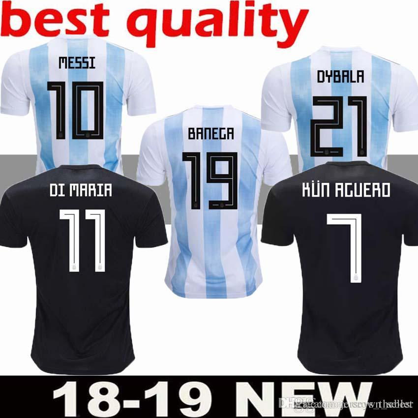 bea7affa2 2019 AAA+ 2018 World Cup Argentina Soccer Jersey 2018 Argentina Home Soccer  Shirt  10 MESSI  9 AGUERO  11 DI MARIA Football Uniforms Sizes S XL From ...