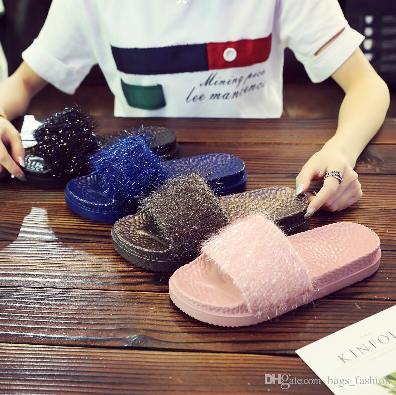 7e75c665c6c7 Beach Female Slipper Thick Bottom Top Quality Flip Flop Sandal Women Home  Slippers Indoor Soft Home Wear Womens Sandals Walking Boots From Bags new