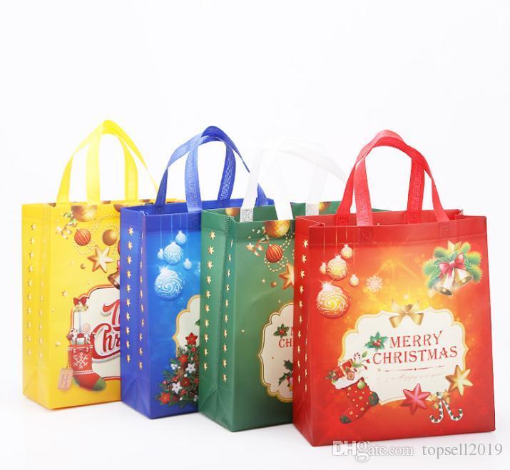 2018 Non Woven Holiday Gift Bags Reusable Christmas Gift Handbag ...