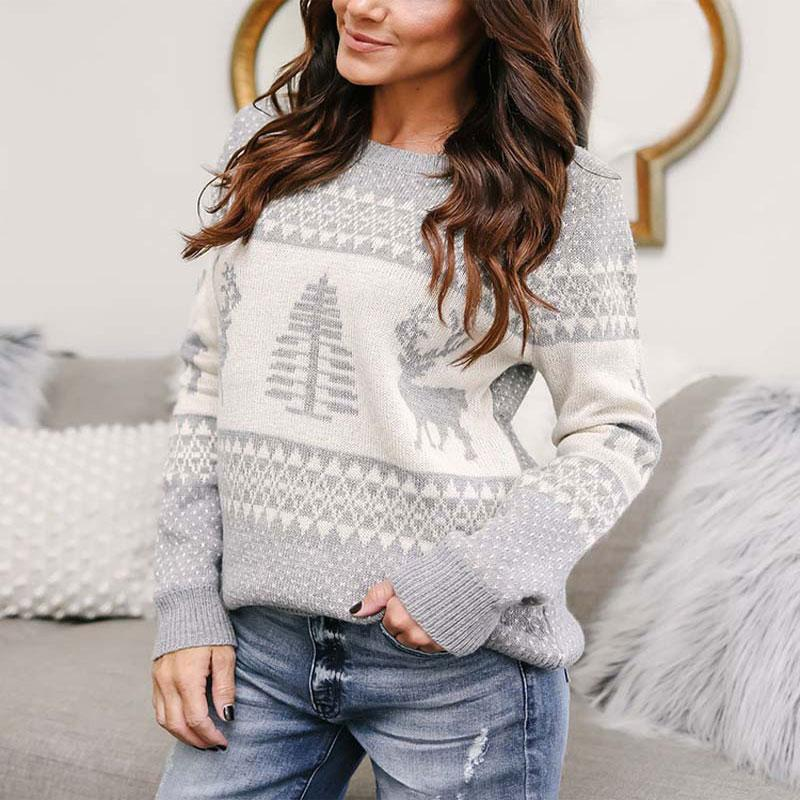 6771978177ab0 2019 2018 Autumn Knitted Sweater For Women Winter Christmas Sweaters Warm  Pullover Christmas Plaid Sweaters Ladies Female Loose Tops From Z6241163,  ...