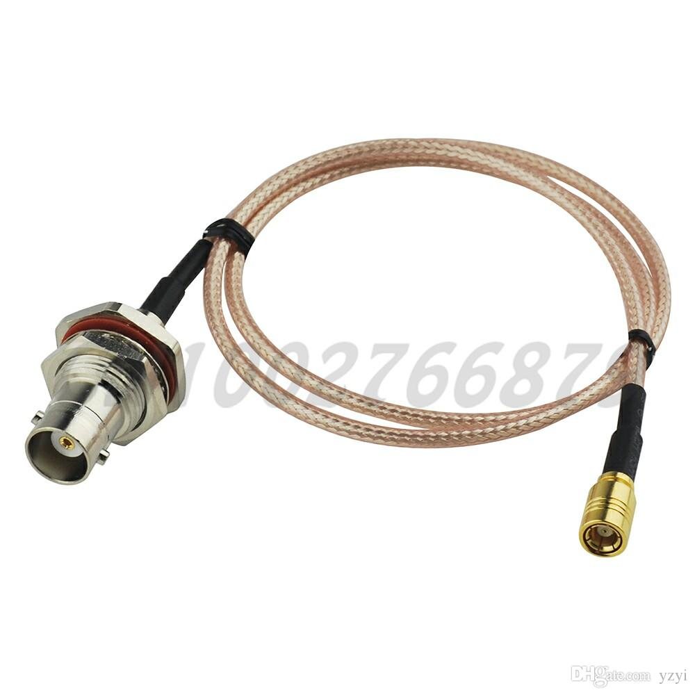 1 7ft 50cm RF BNC Jack bulkhead with O-ring to SMB Jack female Straight  RG316 Pigtail Cable Antenna Feeder cable assembly