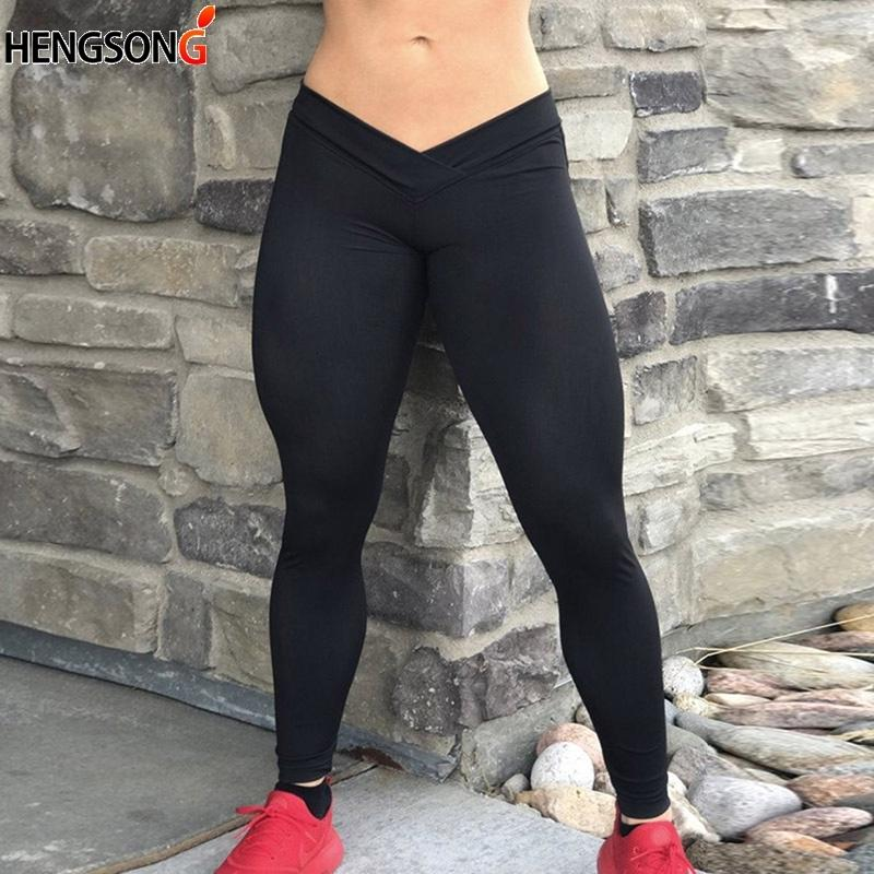 2c083331126378 2019 2019 Sexy Push Up Black Leggings Women Fashion Mid Waist Slim Leggings  Solid Color 715192 From Jincaile04, $26.11 | DHgate.Com
