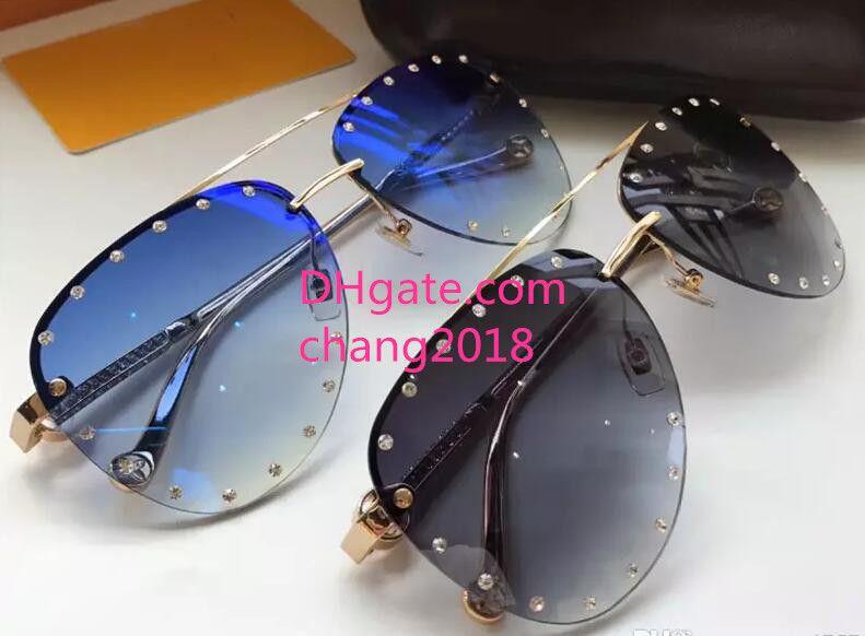 bd56d3ce89253 Compre Óculos De Sol De Luxo Quadro De Pilotos Sem Moldura Com ...