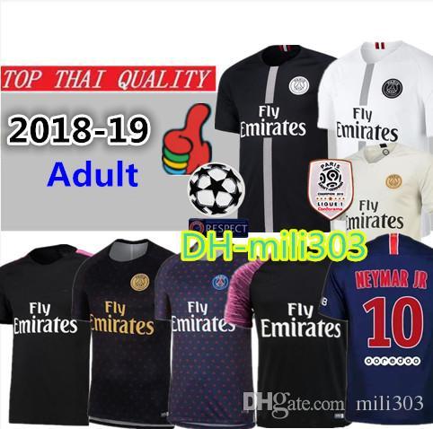 2018 2018 2019 Paris Jordam Soccer Jersey 18 19 Psg Champions League Cavani  Mbappe Football Jerseys Shrit Black White Verratti Maillot De Foot From  Mili303 290546e52