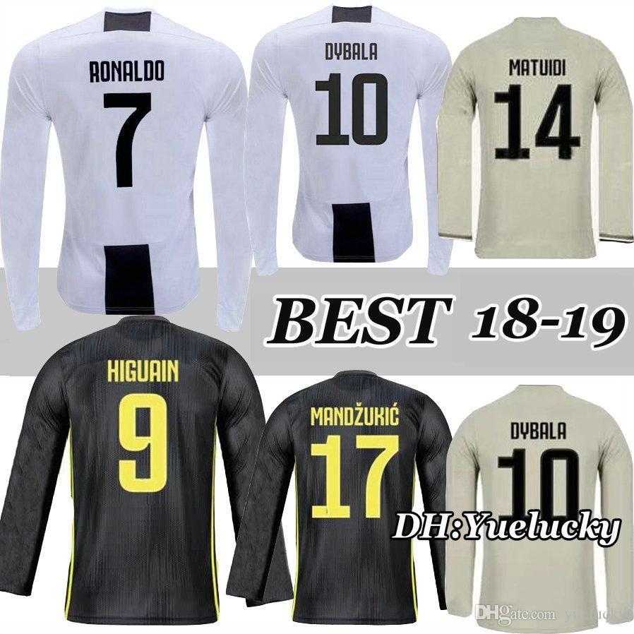 059508642 2019 RONALDO BONUCCI 18 19 Long Sleeves Jersey CR7 Home Soccer 2018 2019  CUADRADO CHIELLINI MANDZUKIC Juventus 3RD FOOTBALL Shirt DYBALA MATUIDI  From ...