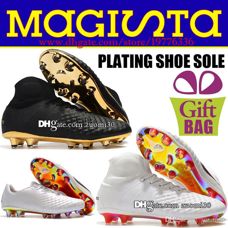 42deef9511d 2019 Original New High Tops Magista Obra II Elite FG Soccer Cleats Socks Football  Shoes Outdoor Magista ACC Soccer Boots Trainers Shoes 6.5 12 From Zuomi30