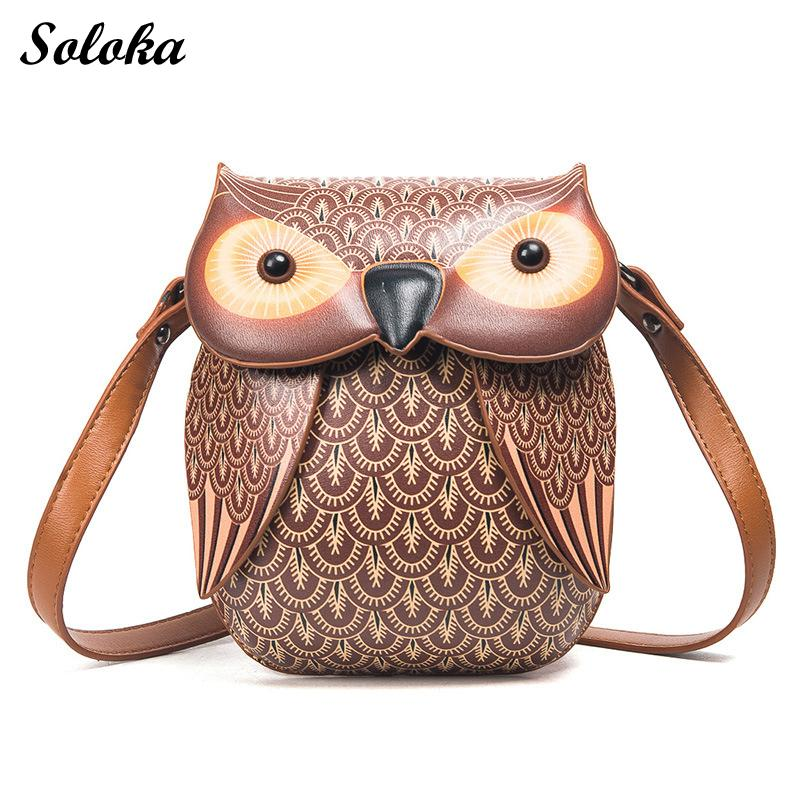 2018 New Cute Owl Shoulder Bag Purse Handbag Women Messenger Bags For Summer  Girls Cartoon With Crossbody Phone Bag Owl Bag Leather Purses Cheap  Designer ... 32a5d281f9