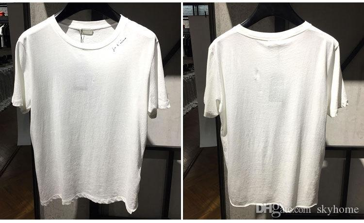Tee-shirt homme simple lettre imprimée saint t-shirt