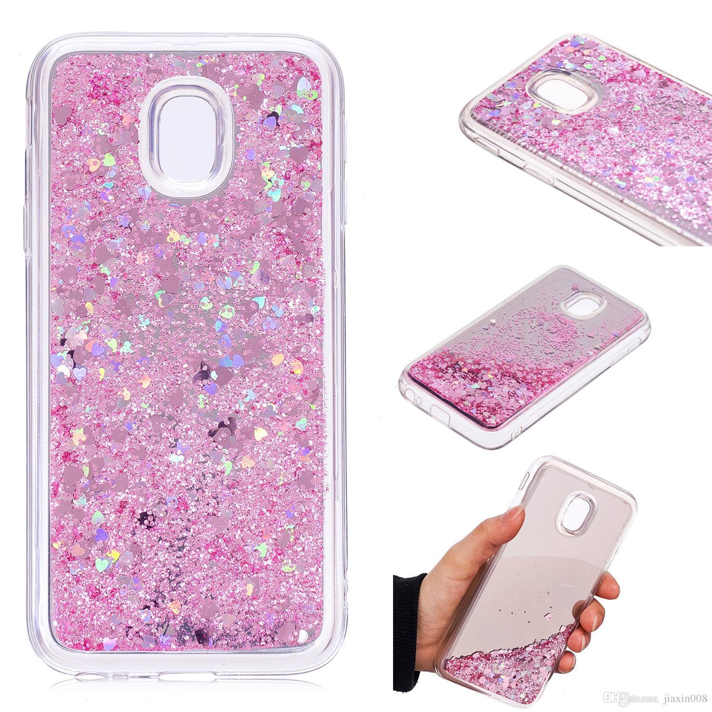Handyhüllen S 3 Abdeckung Für Samsung Galaxy J330 J3 2017 Europäischen Version Case Quicksand Glitter Pulver Spiegel Hard Phone Cases Deckt Handyhüllen Von