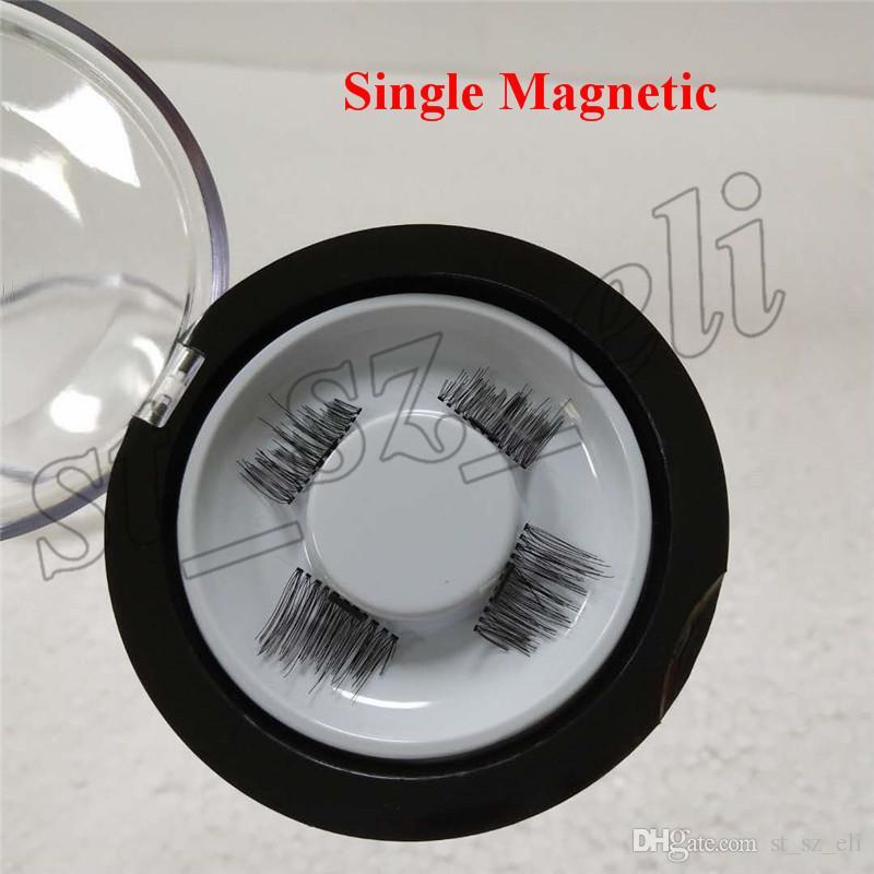 Yeni Tam Şerit 3D Manyetik Yanlış Eyelashes El Yapımı Kalın Uzun Kozmetik Göz Lashes Uzatma Araçları Hızlı kargo