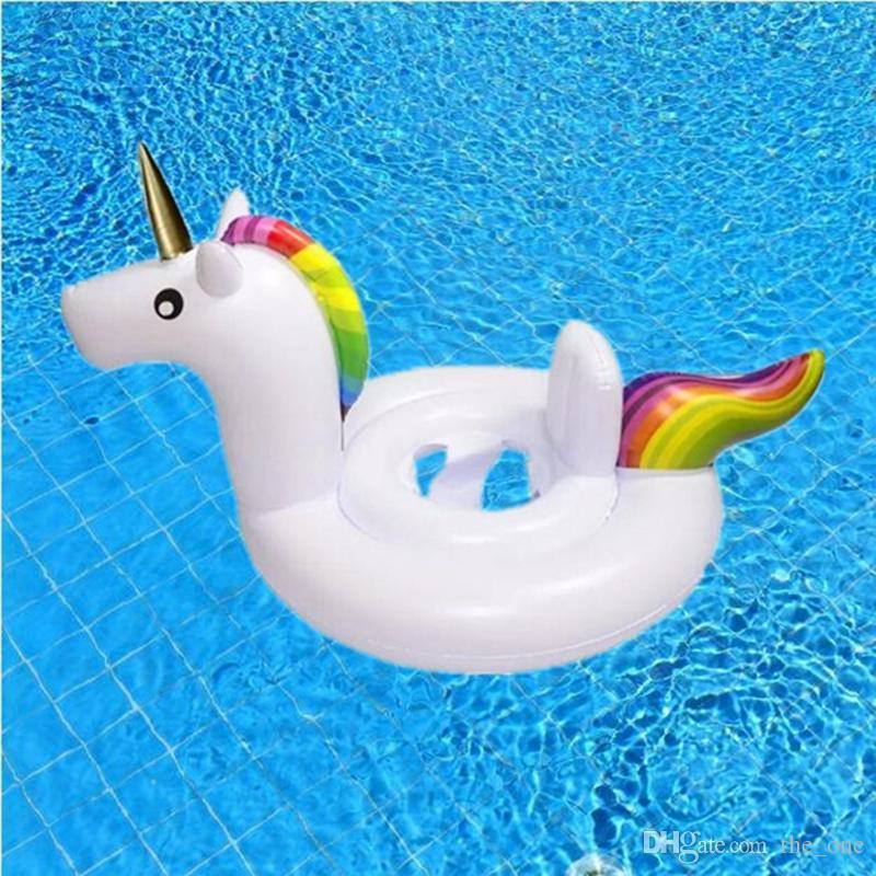 Baby Swimming Ring Unicorn Sedile gonfiabile Unicorno Piscina Galleggiante Baby Summer Water Fun Piscina Toy swan flamingo Kids Swimming float