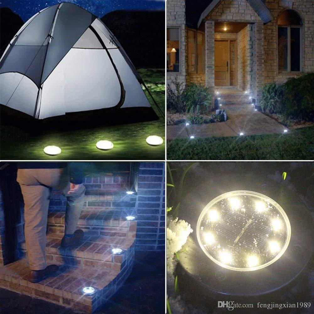 in ground lighting. 2018 Solar Ground Lights, 8 Led Garden Pathway Outdoor In Lights  Warm White For Yard Driveway Lawn Path From Fengjingxian1989, $3.27 | Dhgate.Com In Ground Lighting