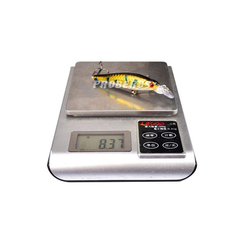 Preço de atacado High Quanlity Arrasto Wobbler Natação Minnow Laser Artificial Swimbait 9 cm 8.3g Ganchos isca de pesca de Água Doce