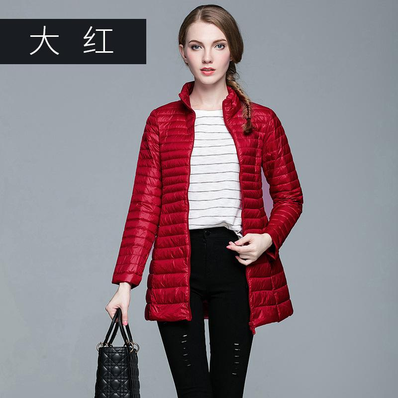 e42a78dc7 OMLESA 2017 Long Down Jacket 90% white duck down Women Winter Coats Ultra  Light Jacket Quilted Hooded Coat S-6004