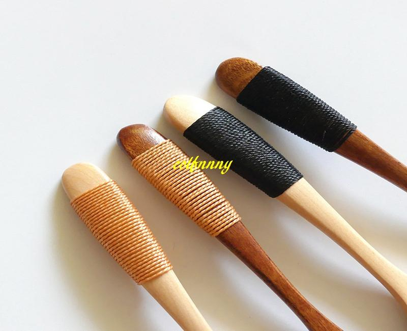 / ot di alta qualità 13 * 2.8cm cucchiaio di legno gelato caffè tè zuppa di legno cucchiai di miele maniglia con filo di corda