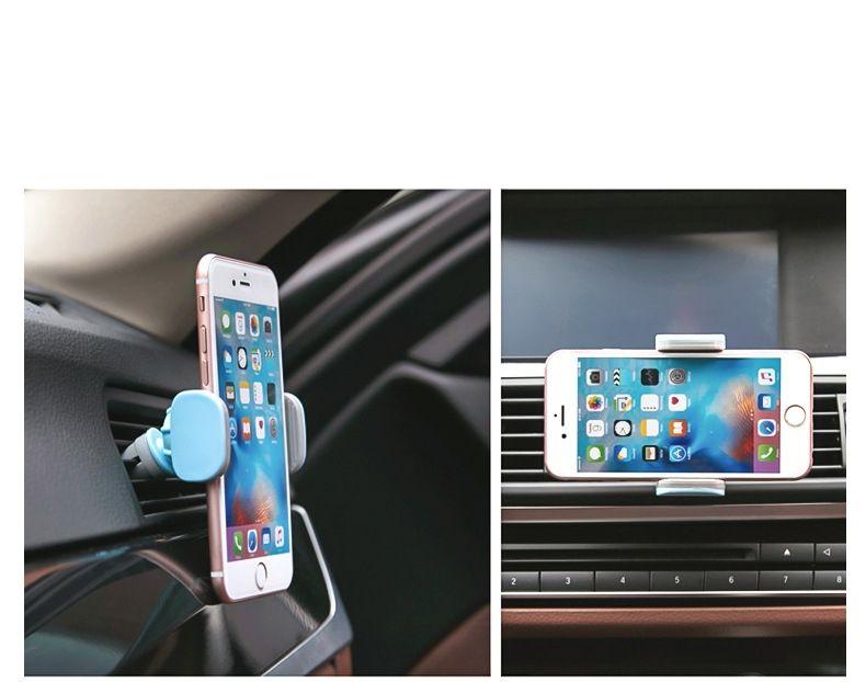 Soporte universal para teléfono Air Car Mount Vent para Iphone X 8 Soporte para teléfono magnético 360 grados de rotación para Samsung s8 en caja