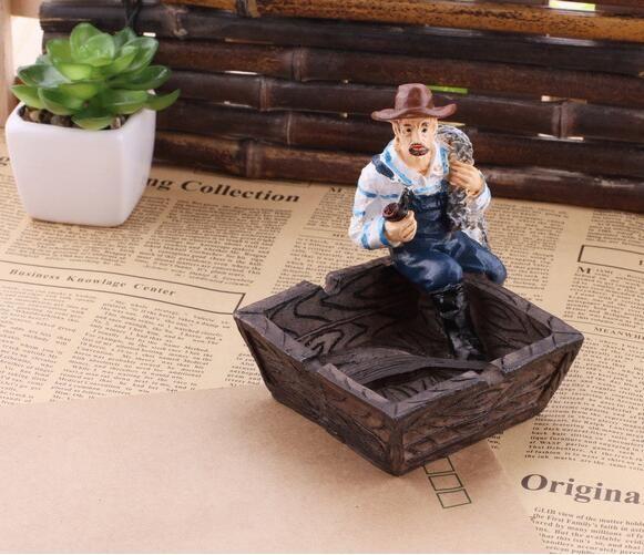Kreative piratenfigur aschenbecher sailor harz aschenbecher mode schöne dekoration artware bar zubehör KTV werkzeuge freies schiff