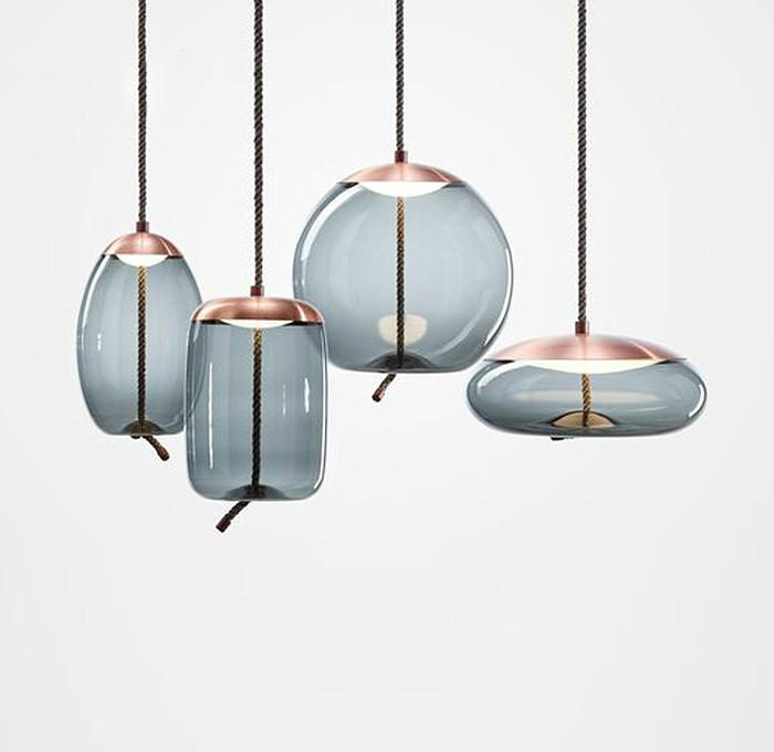 scandinavian pendant lights decorative rope glass pendant lamps