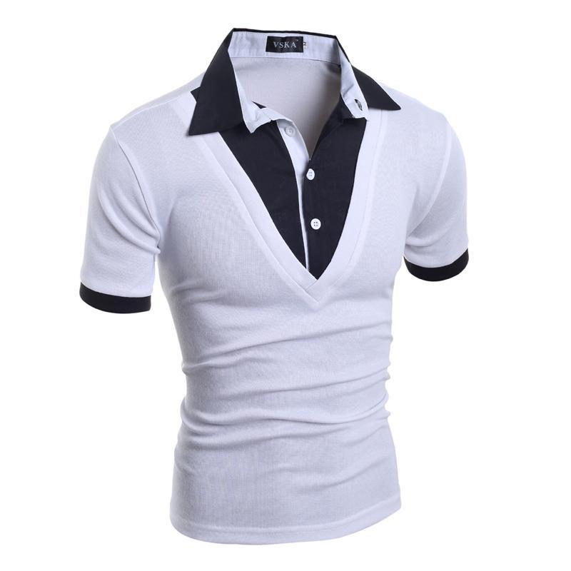 Shirt Bouton À Deux Mode Poru 2018 Polos 2xl Hommes Polo Manches Courtes Casual Slim Mâle Marques Maillots 4AR5j3L