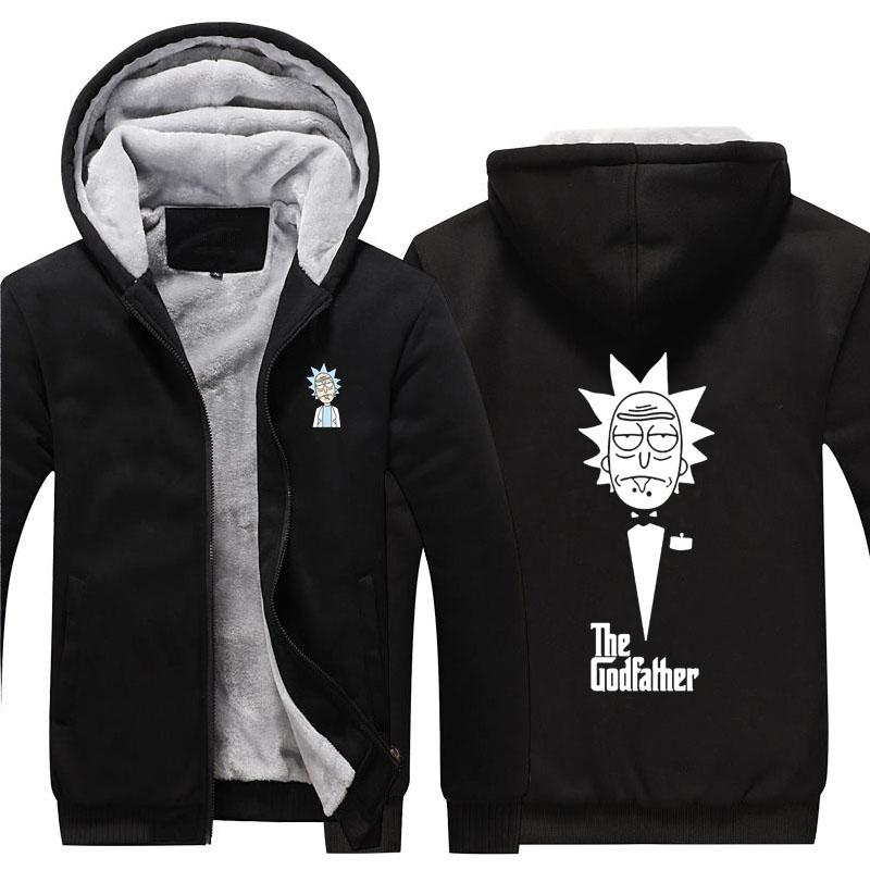 20ac0a490a9 New Rick And Morty Hoodie Anime Rick Morty Fans Coat Jacket Winter ...
