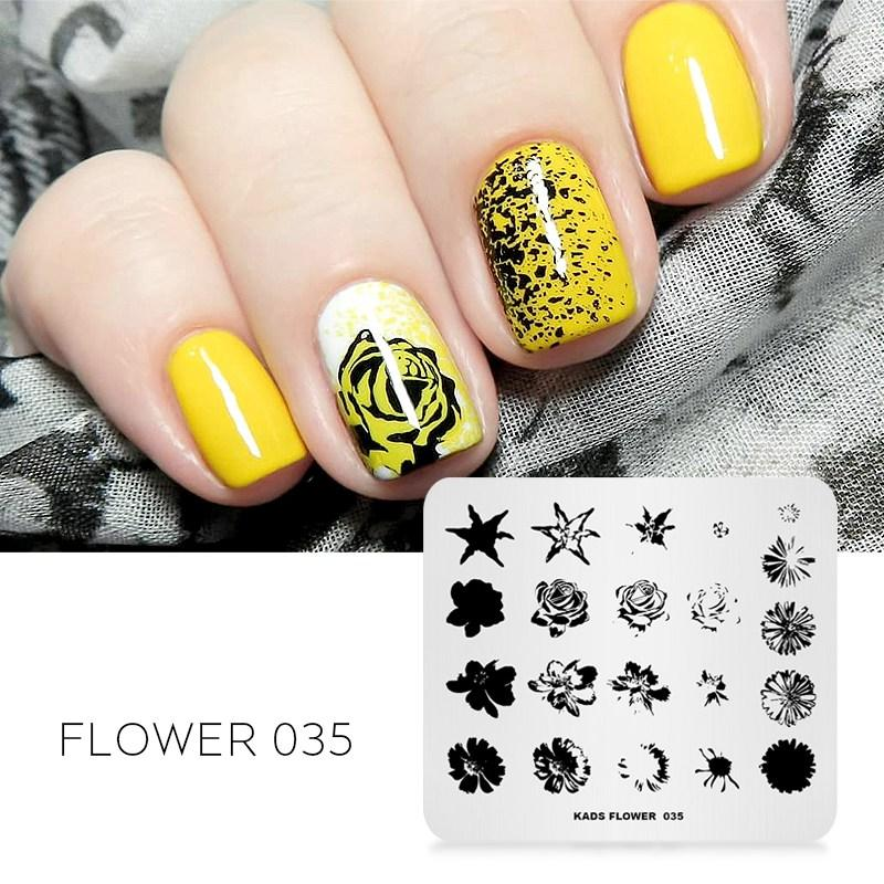 nail art stamping template pattern fingernail stamp stainless steel