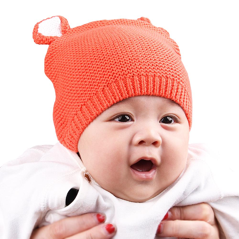 7b5f86751 Newborn Baby Girls Caps Cartoon Bear Knitted Infant Boys Hats Autumn  Toddler Kids Funny Beanies Bonnets Winter Warm Accessories
