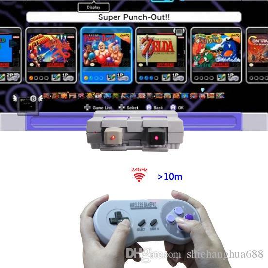 For Nintendo Sony Snes Classic Mini Mini Wireless Usb Gamepad 24ghz