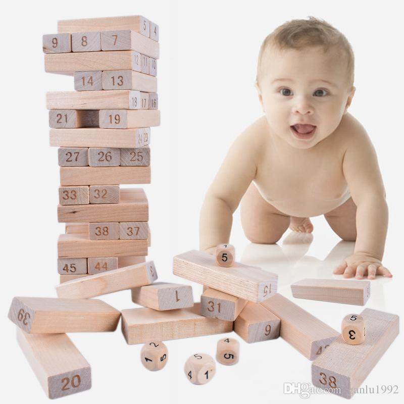 Number Building Blocks Toys Creative Wooden Toy Bricks Kid Early Educational Folds High Game Gift 8 5td W