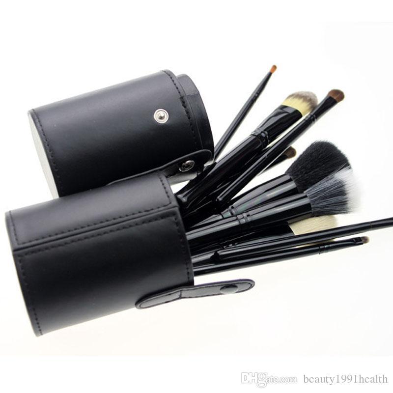 12 шт ногтей кисти комплект студийный держатель трубки портативный PU чашка натуральных волос синтетические волокна делают базовые инструменты красоты ногтей Набор кистей