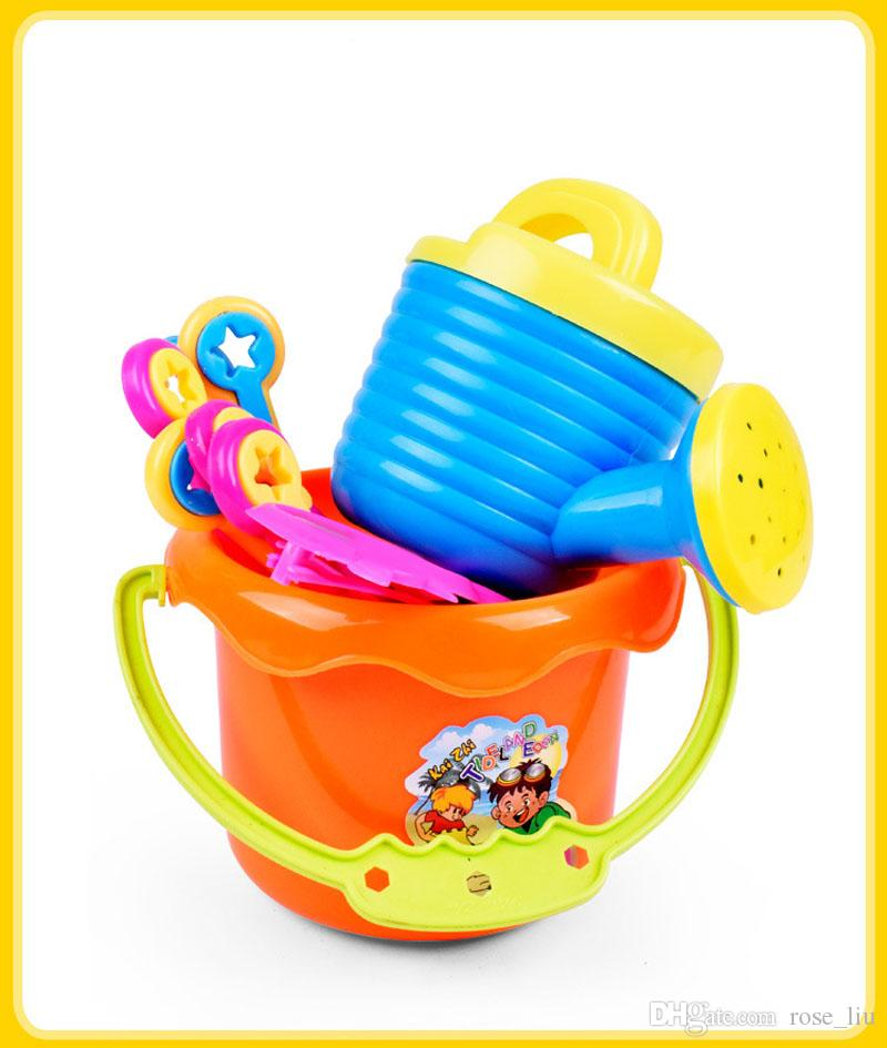 New Arrival Baby Kids Sandy beach Toy Dredging tool Beach Bucket Sunglass Baby playing with sand water toys B