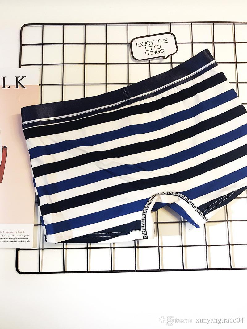 Mens sous-vêtements boxeurs coton rayé lettre imprimée sexy sous-vêtements doux sport casual sous-vêtements pour hommes garçons 3 couleurs cadeaux de luxe 116