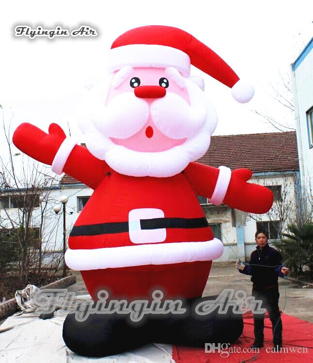 2018 inflatable christmas santa giant 5m height blow up snowman airblown father christmas for outdoor holiday decoration from calmwen 87438 dhgatecom - Blow Up Christmas