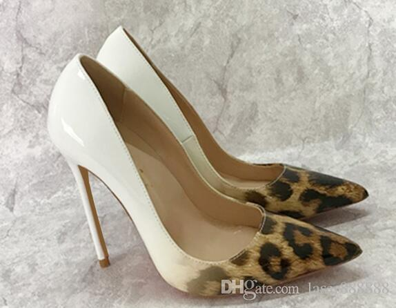 6dfd36bca50a Fashion White Leopard Print Women Pumps Womens Red Bottom Shoes Brand High  Heels Stilettos Pumps Shoes For Women Sexy Party Wedding Shoes Wo Summer  Shoes ...