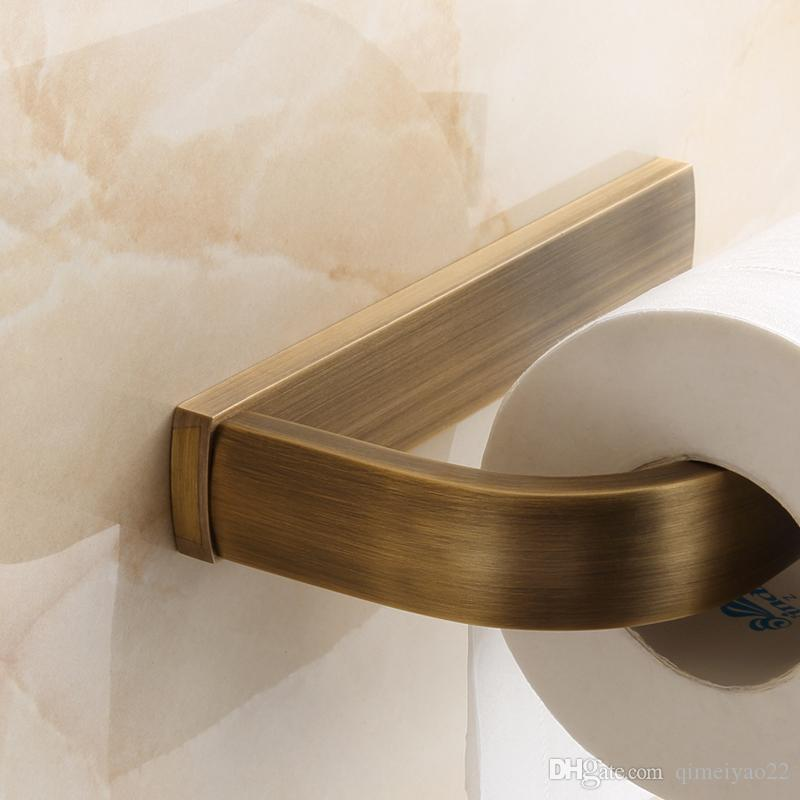 Bathroom Accessories Retro Toilet Roll Paper Holder High Quality Antique Bronze Finish Wall Mounted Copper Brass Roller Tissue Holder