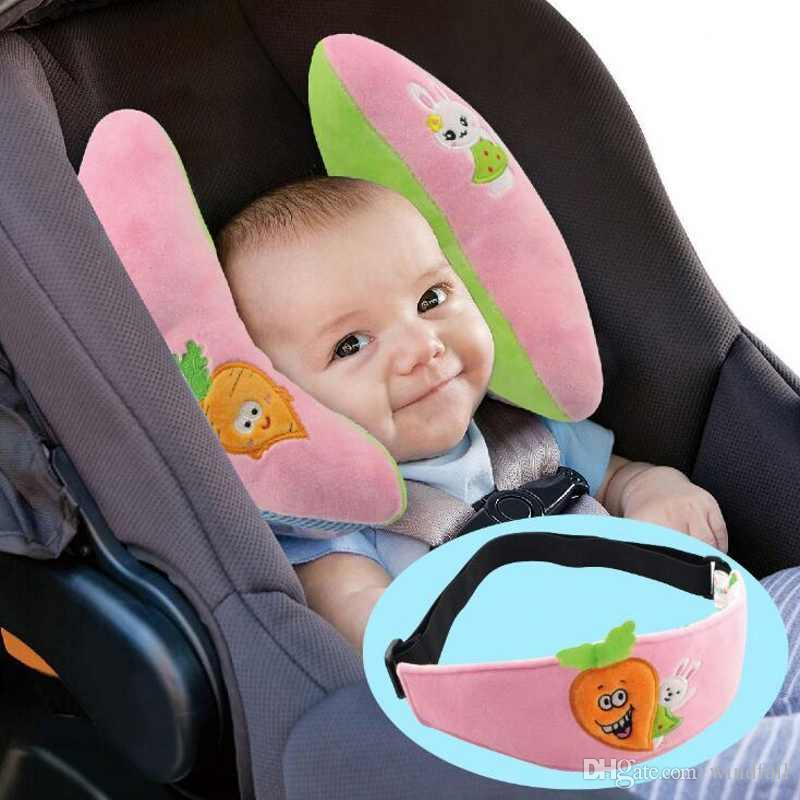 Baby Pillow Support Headrest Travel Car Seat Adjustable Neck Kids Cushion Protection Nursing Eye Shade Case Sofa Pillows From