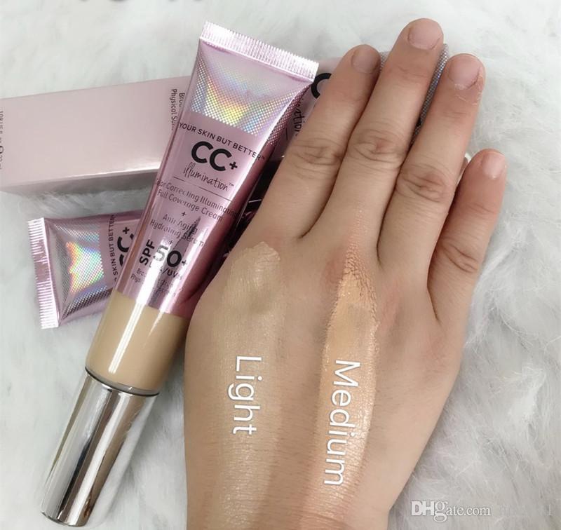 New Makeup brand cosmetics Primer Correcting Illuminating Full Coverage Cream 32ml Concealer Light Medium DHL shipping