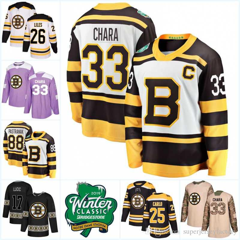 89f034c09 2019 Winter Classic Boston Bruins Jerseys 88 David Pastrnak 86 Kevan Miller 73  Charlie McAvoy 14 Paul Postma Tuukka Rask Hockey Jerseys UK 2019 From ...
