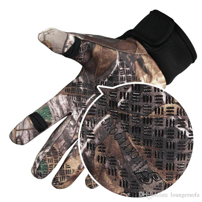 Camouflage Five Fingers Gloves Nylon Sport Mountain Bike Glove Thicken Anti Wear Touch Screen Mitt Multi Function 16 17bw B