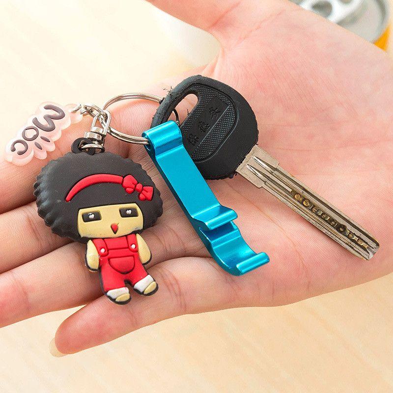 Free Laser Engraving Bottle Opener Keychain Rings Custom Logo Metal Key Chain Bottle / Can Openers Promotional Gift Item LZ0786