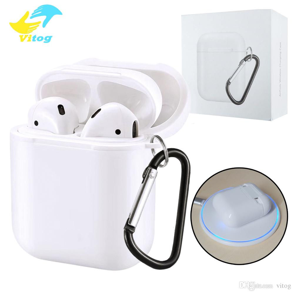more photos b051a f5e41 Wireless Charging Receiver Case For Apple Airpods case cover QI Standard  Airpods Wireless charger Receiver with package