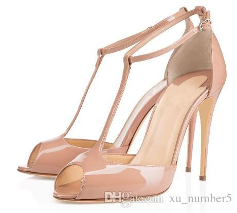 free shipping professional Red Bottom Women Handmade Fashion Denora Peep Toe J-strap Sexy High Heel Party Sandals Shoes Beige L037 official site cheap price good selling for sale classic cheap price discount with credit card bfRyg