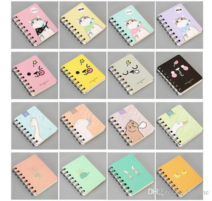 Cuaderno de hojas sueltas de tamaño pequeño Cuaderno de apuntes Diario de diario Notas de los estudiantes Notas - Agenda de Kawaii de dibujos animados Agenda de escritorio Material de oficina